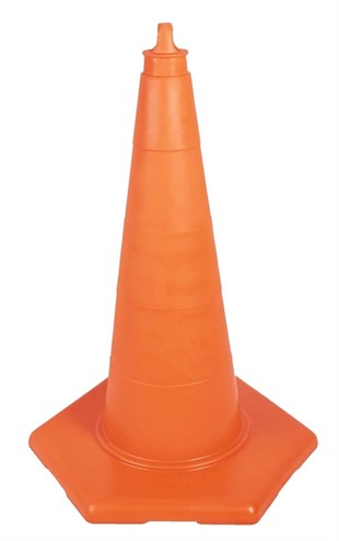 50 cm Unbreakable Traffic Cone (Without Refllective)
