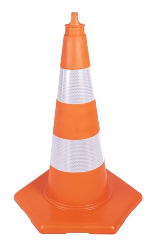 75 cm Unbreakable Traffic Cone (Double Reflective)