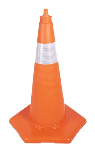 75 cm Unbreakable Traffic Cone (Single Reflective)