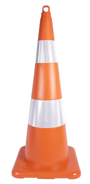 90 cm Unbreakable Traffic Cone (Double Reflective)