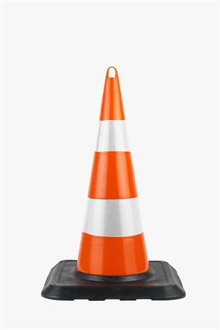 90 cm Unbreakable Traffic Cone (Double Reflective) Weighted