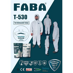 FABA T-530 Disposable High Level Protective Coverall
