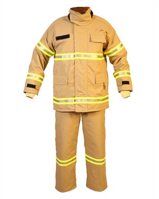 Fyrpro 800 Class 2 Firefighter Suit (4 Layers) - Gold Color