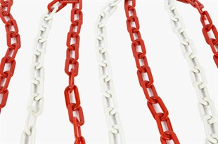 Plastic Traffic Chain (RED&WHITE) 8 mm