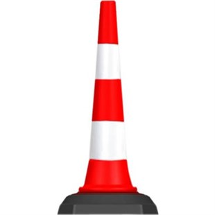 Traffic and advertising cone 900 mm (with rubber base)