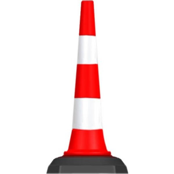 Traffic and advertising cone 500 mm (with rubber base)